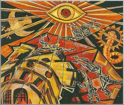 Pyreaus - Divination - Sacred Tarot - Major Arcana - The Tower